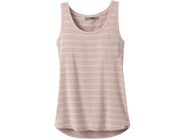 Prana Foundation Scoop Neck Tank Women sparrow heather stripe
